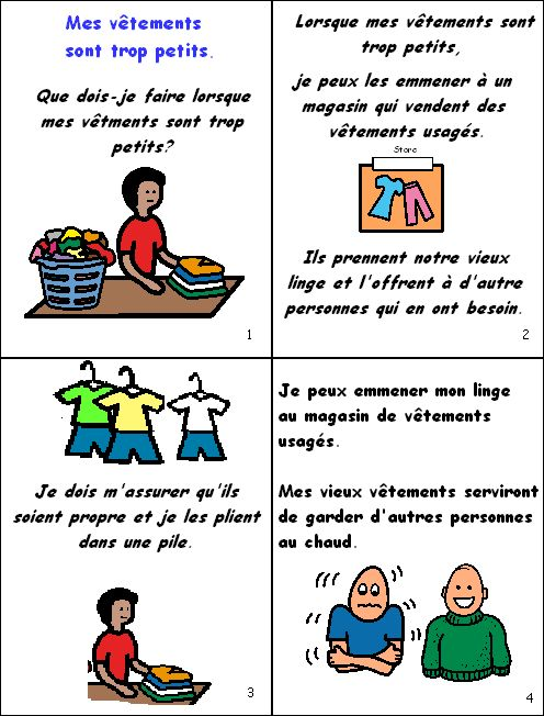 What should I do when my clothes are too small | Great French sentence construction