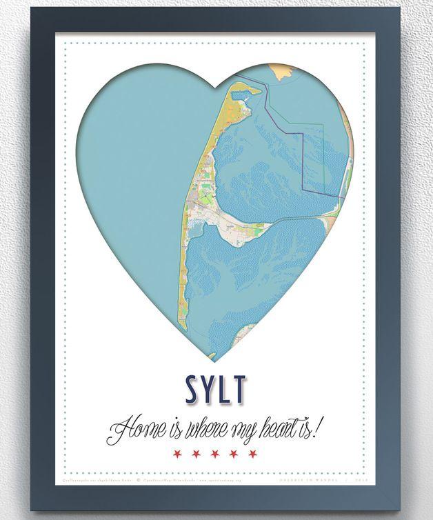 Poster für Syltfans, Urlaub / art print Sylt, holiday made by Galerie im Wandel via DaWanda.com