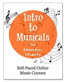 Intro to Musicals for Elementary Students by Music in Our Homeschool - FREE! $20.00 Value  Ten lessons on ten different musicals. Read about the story and background, watch video clips, work on one printable per lesson, take an online quiz, and explore links to outside sites with other materials to enrich your study.