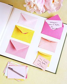 Transform a store-bought album into a guest book that has a handmade feel.