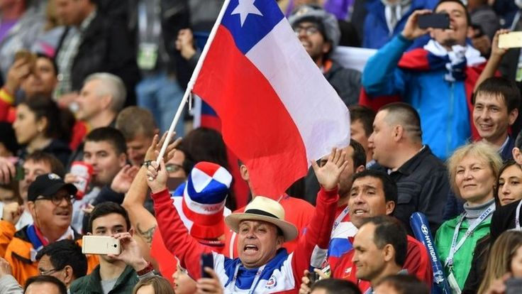 Confederations Cup: Chile businessman offers fans 5,000 flags https://tmbw.news/confederations-cup-chile-businessman-offers-fans-5000-flags  A wealthy Chilean businessman has despatched 5,000 national flags to Russia ahead of the football Confederations Cup final.Chile will face current world champions, Germany, in Saint Petersburg at 19:00 BST on Sunday.The mining tycoon and philanthropist, Leonardo Farkas, urged Chilean fans in Russia to gather outside the team's hotel to collect the…