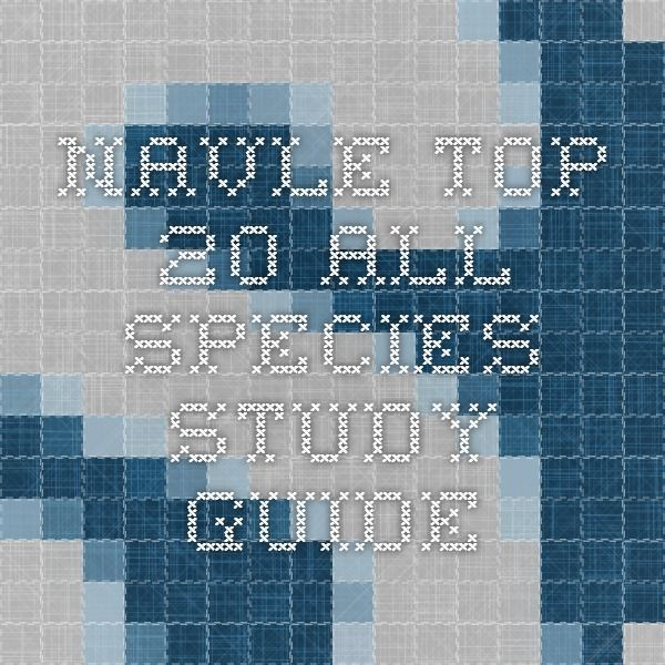 NAVLE Top 20 All Species Study Guide