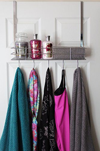 Over The Door Hooks With Shelf, Chrom…