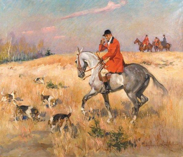 Hunting with Hounds - Wojciech Kossak