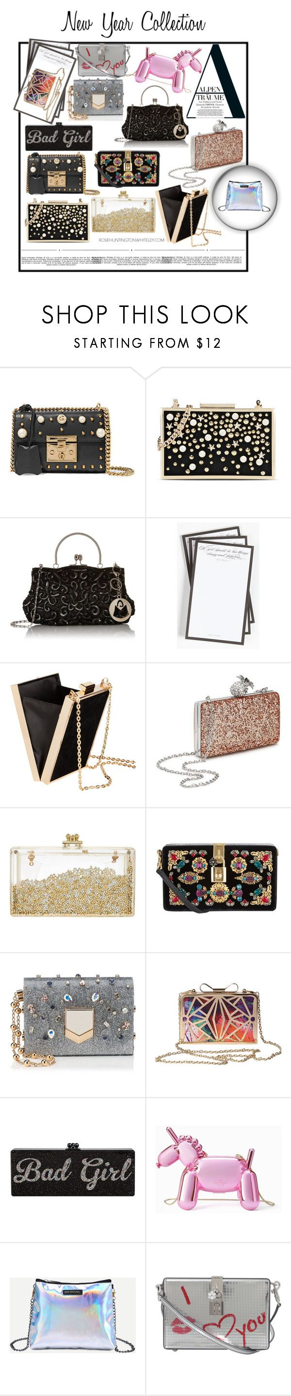 """""""New Year Bags Collection😜"""" by s-timi ❤ liked on Polyvore featuring Gucci, Karl Lagerfeld, Murphy, Ben's Garden, Whiteley, H&M, Miss Selfridge, Dolce&Gabbana, Jimmy Choo and Kate Spade"""