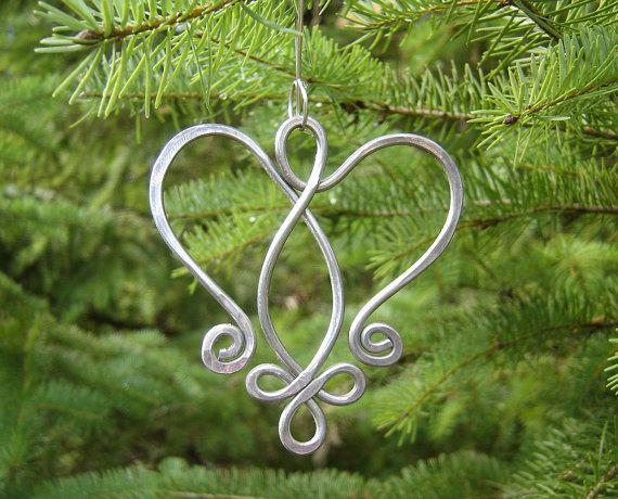 Celtic Angel Heart Ornament  Tree Ornament by nicholasandfelice, $15.50