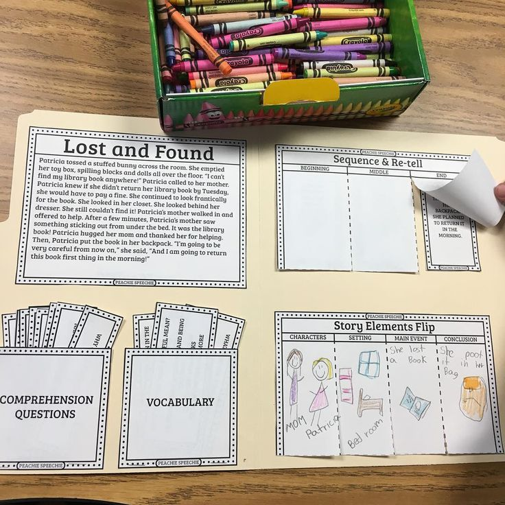 «Almost done with my Story Files project! I hope to post it later tonight. A story, comprehension questions, vocabulary cards, sequencing and retelling,…»