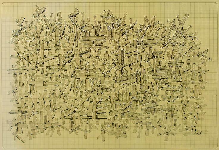 Antoine Desailly - Sans Titre - Liner sur papier quadrillé - 21 x 29.7 cm - 2013 - Galerie W - Galerie d'Art contemporain à Paris #galeriew #gallery #w #gallery w #antoine-desailly @galeriew