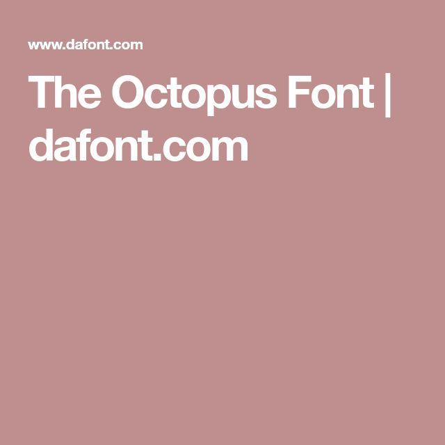 The Octopus Font | dafont.com | Free fonts for cricut ...