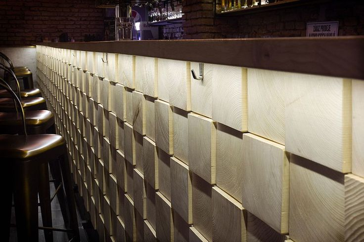 Industrial Interior design - Bar Stromoffka Wooden profiles raster