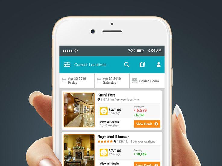 Hotel Booking App Design by samirbitt