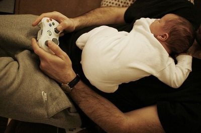 So Sweet!! This has happend many times in our house!!!: Videos Games, Future Husband, My Husband, Kids, House, Baby, Dads, Photo, Alex O'Loughlin