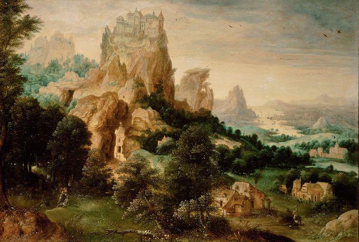 Landscape with the Parable of the Good Samaritan // ca. 1540 // Herri met de Ble…