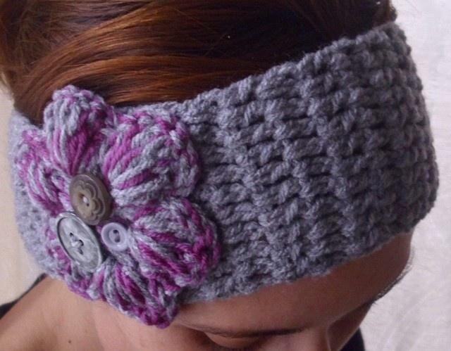 Crochet boho  headband headwrap earwarmer. $18.00, via Etsy.