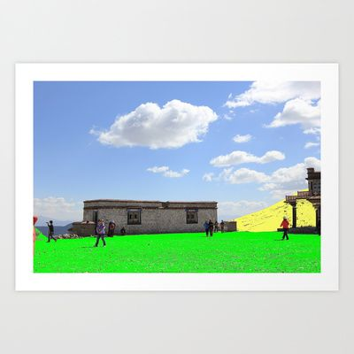 Green Sand and Yellow Hill Art Print by lookiz - $16.64