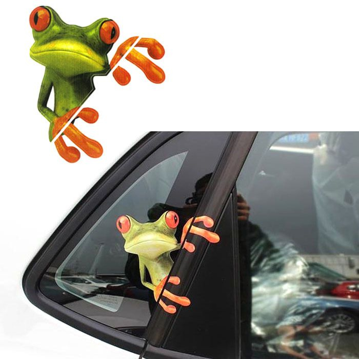 Moodeosa 3D Peep Frog Funny Car Stickers Truck Window Decal Graphics Sticker Freeshipping-in Stickers from Automobiles & Motorcycles on Aliexpress.com | Alibaba Group