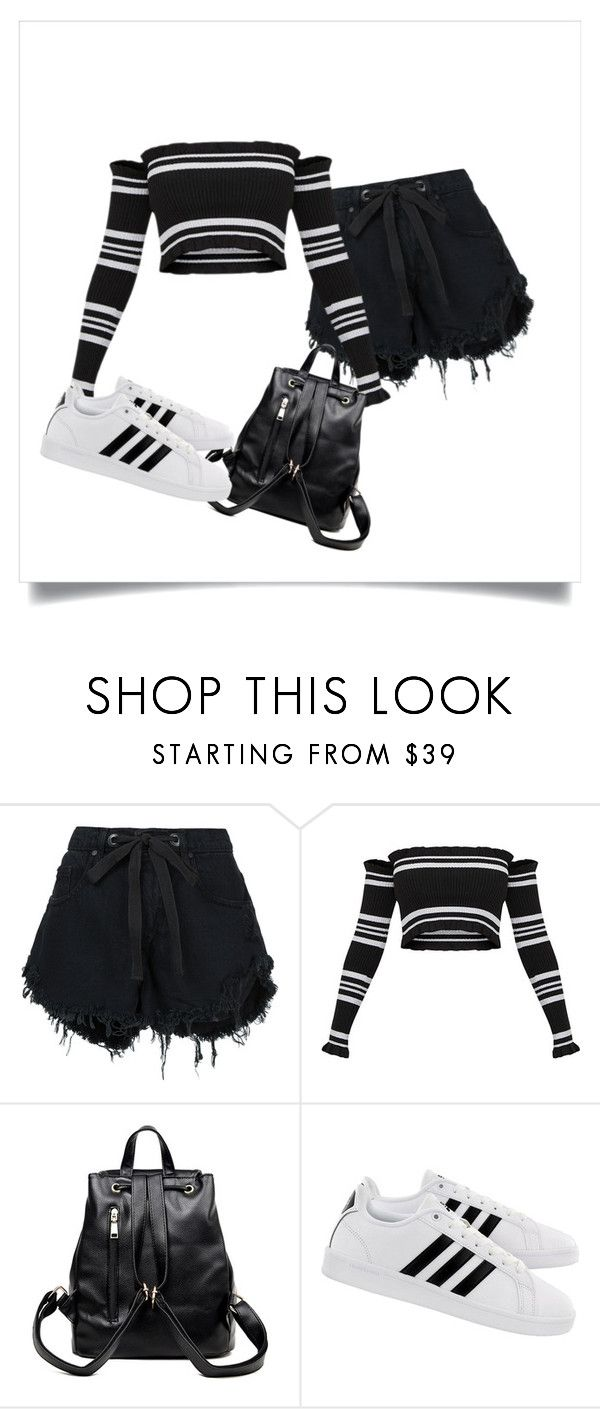 """""""Sddfds"""" by alessiabazzurro on Polyvore featuring Nobody Denim and adidas"""