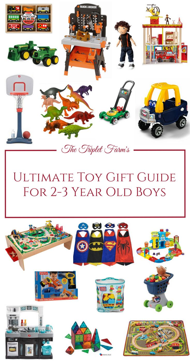 Are you searching for the best toys for 2-3-year-old boys?  Don't fret yet! I have the most awesome list you will ever need! Boys this age love a wide range of things including trucks and tractors, pretend play and anything superhero related! Here's the Ultimate Toy Gift Guide For 2-3 Year Old Boys