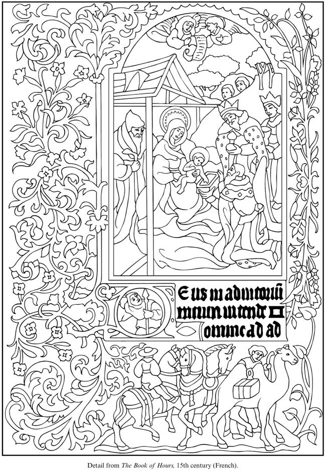Illuminated Manuscripts Coloring Book Inspire Expire