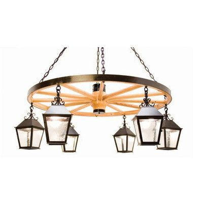 2nd Ave Design Silverton 6-Light Shaded Chandelier Finish: Antiquity Premium, Acrylic: Clear Acrylic