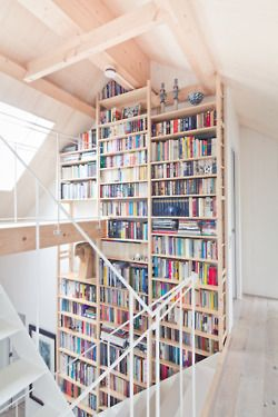 And with the windows, the walking plank to the books, this is heaven for me.