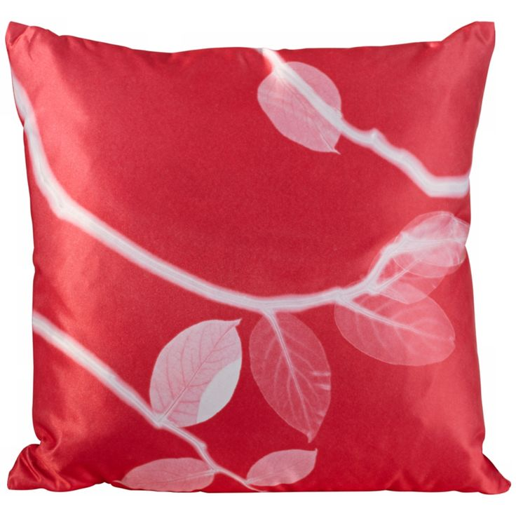 "Jelly Bean Pink Satin 18"" Square Down Throw Pillow - Style # W9532"