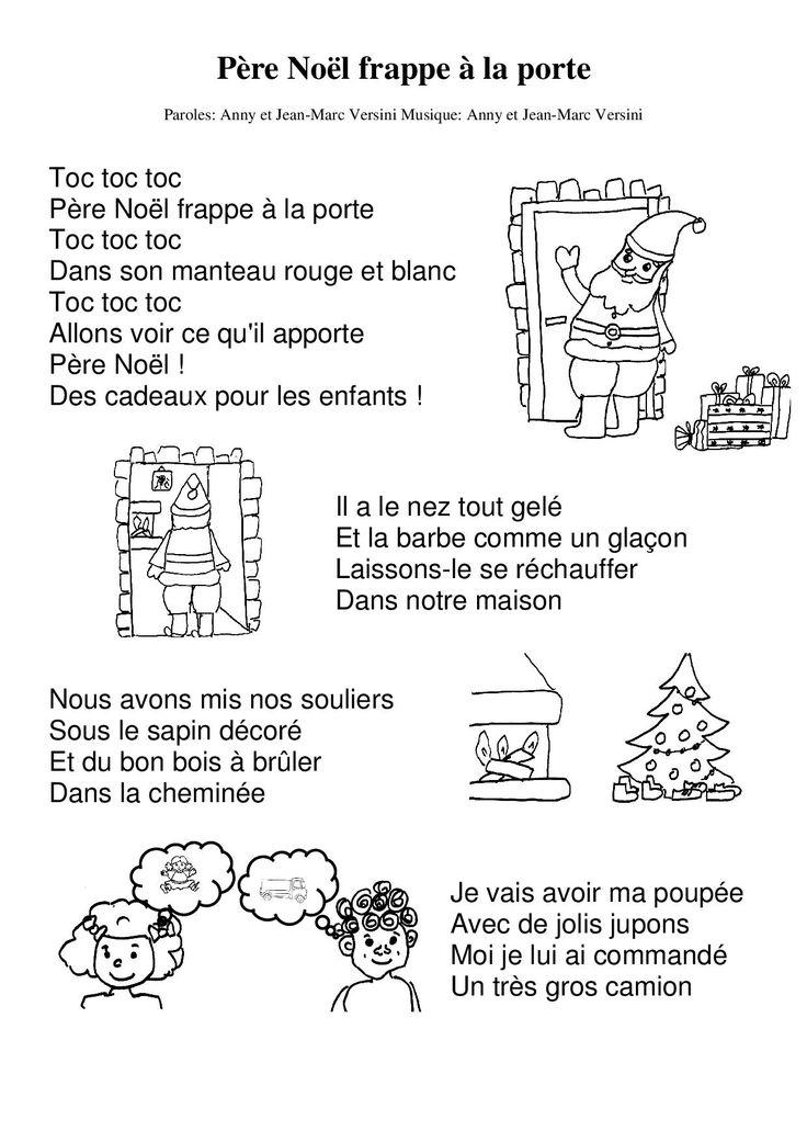 Père Noël frappe à la porte - la maternelle de Camille