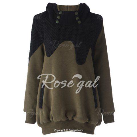 Stylish Hooded Long Sleeve Spliced Maternity Women's Hoodie Sweatshirts & Hoodies | RoseGal.com Mobile