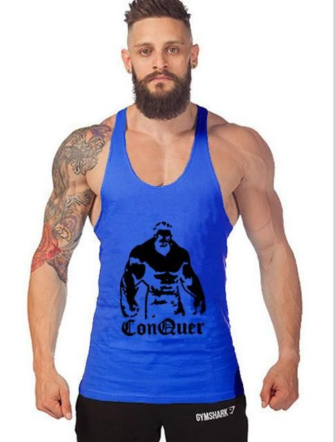 f1229bddb0c9a Gyms tank tops Bodybuilding Clothing Fitness Men Cotton golds gyms Stringer  hip hop Sleeveless Shirts Muscle tanktop singlets