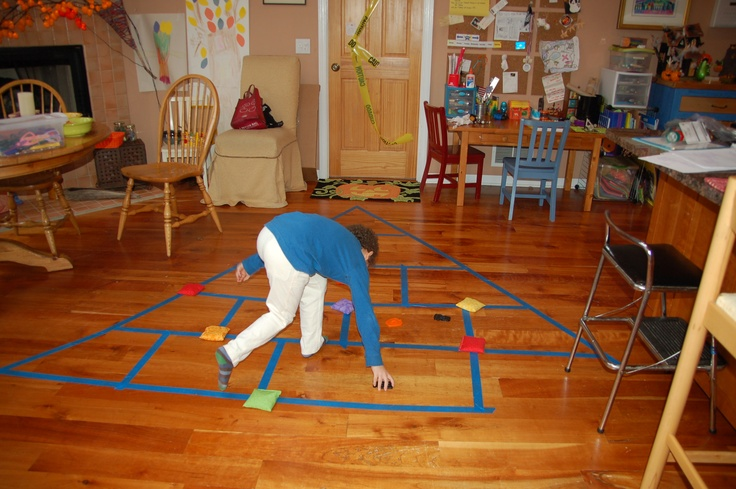 rainy day balance game on Break the Parenting Mold