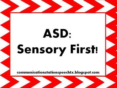 Communication Station: Speech Therapy PLLC: Wild Wednesday!  ASD:  Sensory First!