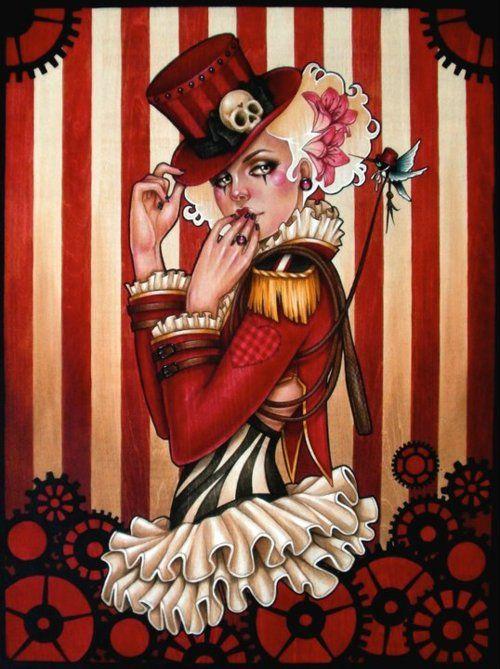 Glenn ArthurSteampunk Art, Circus Girl, Inspiration, Arthur Art, Glennarthur, A Tattoo, Steampunk Circus, Glen Arthur, Glenn Arthur
