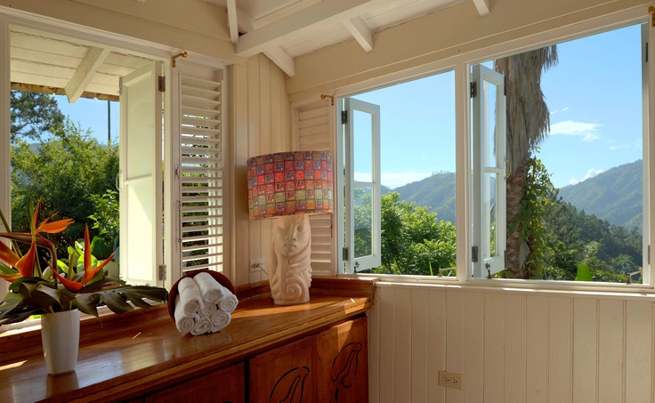 View of the Blue Mountains from a treatment room at Strawberry Hill.