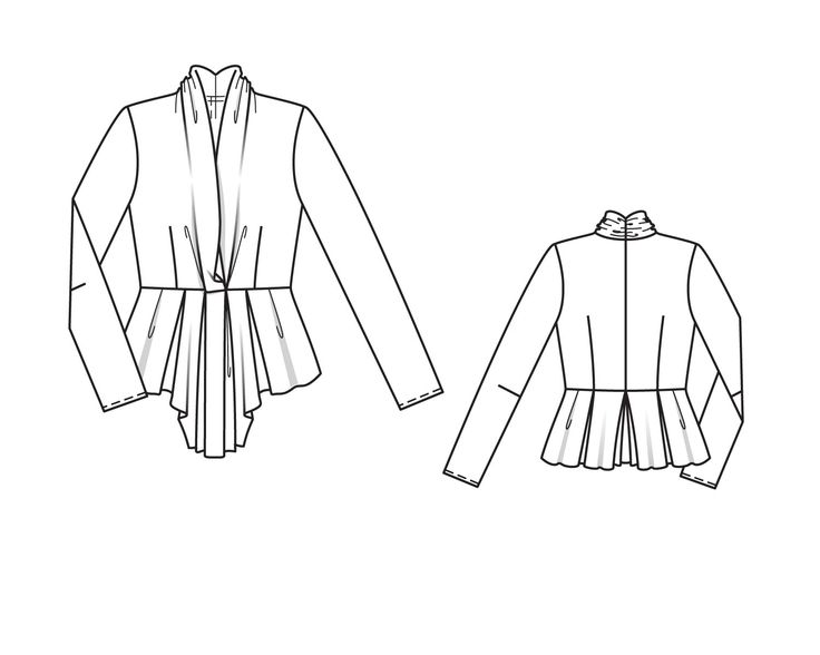 Блузка с шалевым воротником - выкройка № 112 из журнала 9/2014 Burda – выкройки блузок на Burdastyle.ru