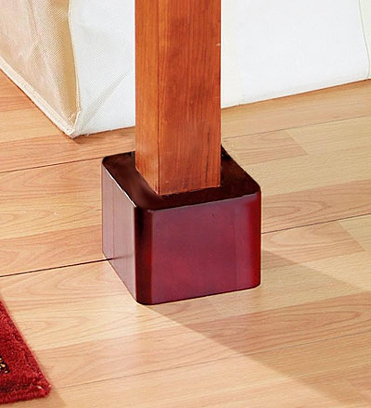 Wooden Stackable Bed Risers Set of 4  Veryyyyy Clever