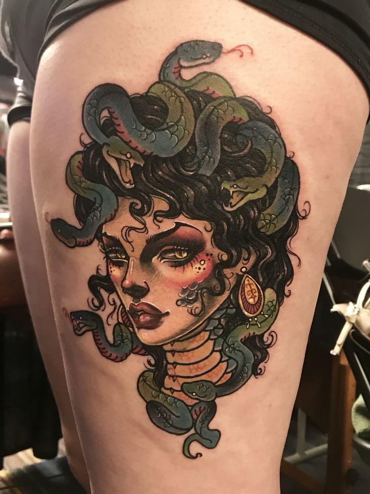 #madusa -madusa🐍 Thank you so much!NYC tattoo문의&상담:카톡ID:qpqpgi 010-9078-7474 Tattoo machines by @cstattoomachine