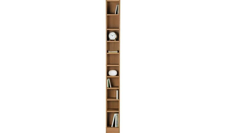 Buy HOME Maine Tall DVD and CD Media Storage Tower - Oak Effect at Argos.co.uk - Your Online Shop for CD, video and DVD storage, Bookcases, shelves and DVD storage, Storage, Home and garden.