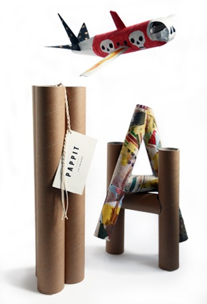 Pappit - 9 paper tubes, 540 mm and 50/60/70 mm in diameter. Order at www.pappit.se