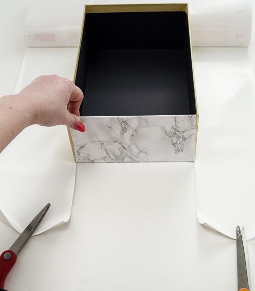Marble Storage Box   A Chic U0026 Easy Organizing DIY
