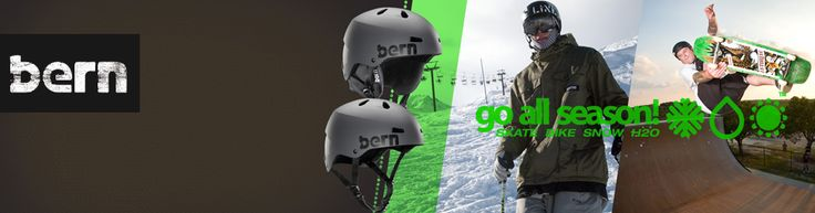 Bern - probably the coolest helmet brand on the planet - bar none!  Just because you wear a helmet, it does not mean you have to look like a dork!  Bern sussed this out years ago and now produce the coolest range of helmets and body armour for all extreme sports - skate, skateboard, bike, BMX, cycle, snowboard, ski, watersports, wakeboard, canoe and h2o.