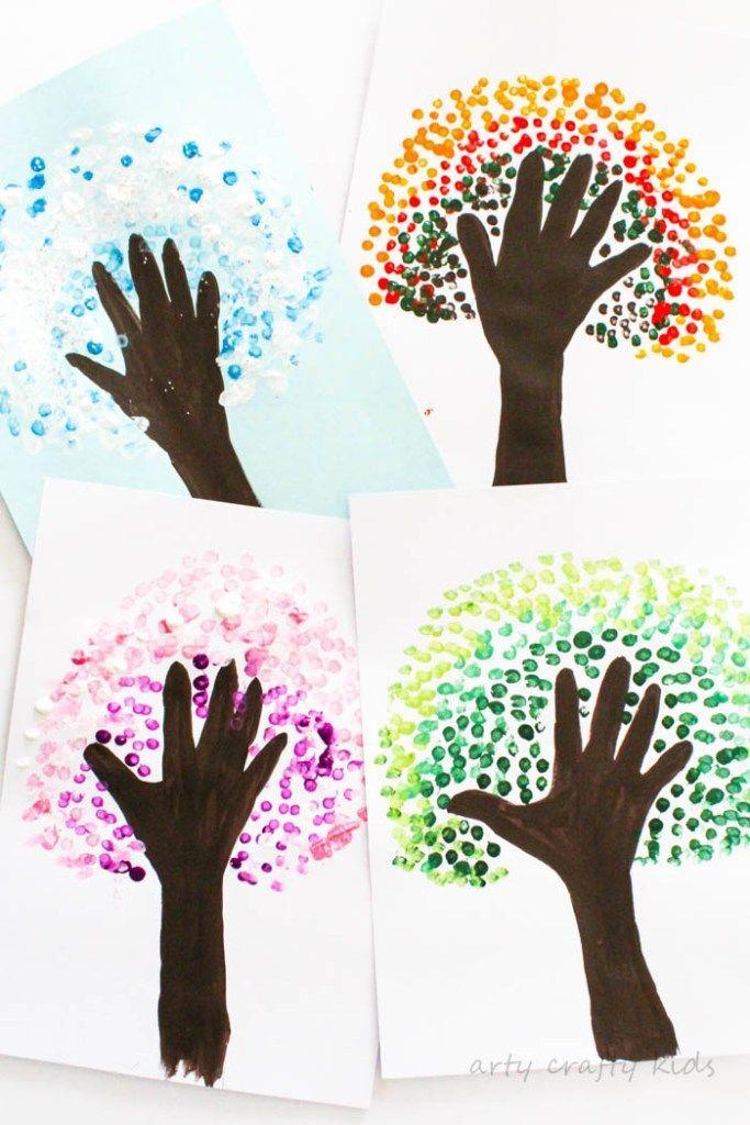 Four Season Handprint Tree   *Kid Friendly - Summer Fun   Kids