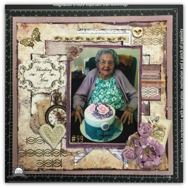 Couture Creations: Thinking of You by Tracey Rohweder | #couturecreationsaus #scrapbooking #family #decorativedies #heartsease