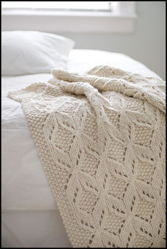 knit blanket pattern from Brooklyn Tweed