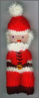 Santa Ornament Knitting Pattern FREE PATTERN ♥4300 FREE patterns to knit ♥ http://pinterest.com/DUTCHYLADY/share-the-best-free-patterns-to-knit/