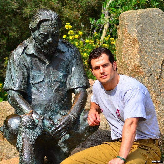 """Henry Cavill at Durrell wildlife park. Pic: Durrell  Superman actor and Jersey native Henry Cavill says he is """"enormously proud"""" to be an ambassador for the Durrell Wildlife Conservation Trust."""