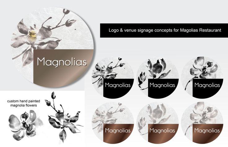 Logo Design & Venue Design for Magnolias by Kathy Morton Stanion
