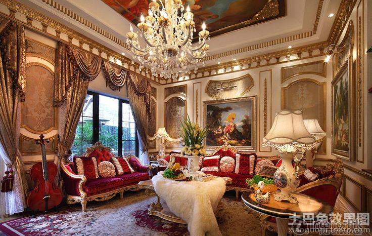 European baroque interior baroque style decorated the - Living room definition architecture ...