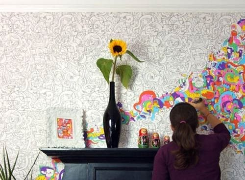 5. Doodles | 20 Ways To Make Your Walls Look Uniquely Amazing