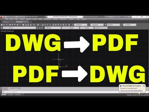 How to print AutoCAD drawing to PDF - YouTube