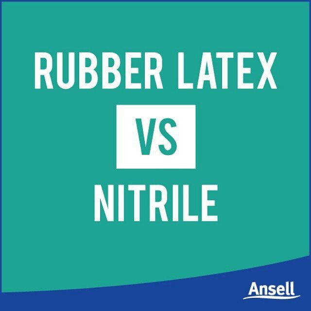 You may see on some of our Ansell gloves the words 'Latex Free' or 'Made From Nitrile' - but why two different  materials? Latex is natural rubber, grown from the rubber tree, that is strong, flexible and conforms to your skin, making it perfect for glove